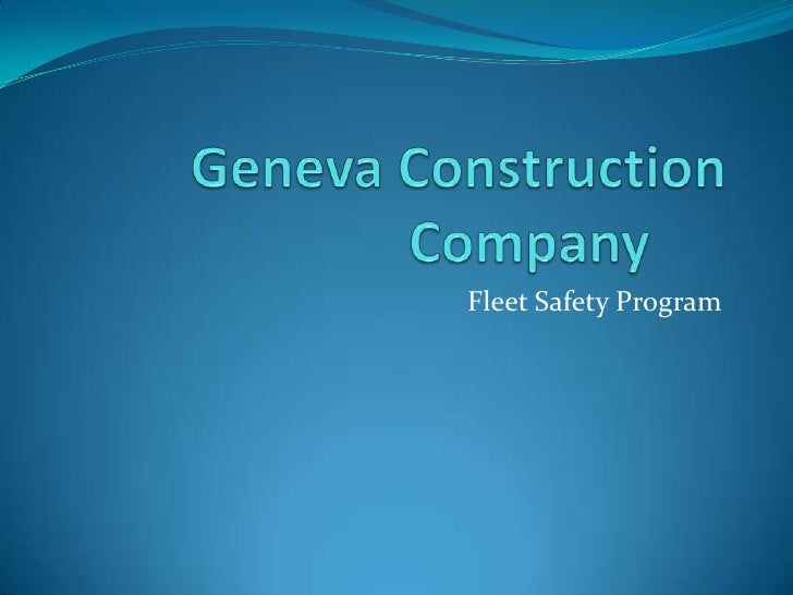 Fleet Safety Program