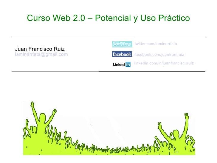 Fundación Sancho el Sabio - Curso web 2.0 - Uso