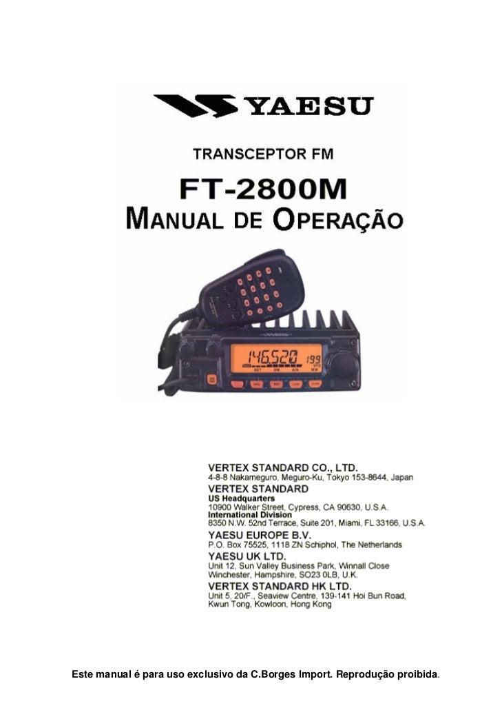 Este manual é para uso exclusivo da C.Borges Import. Reprodução proibida.