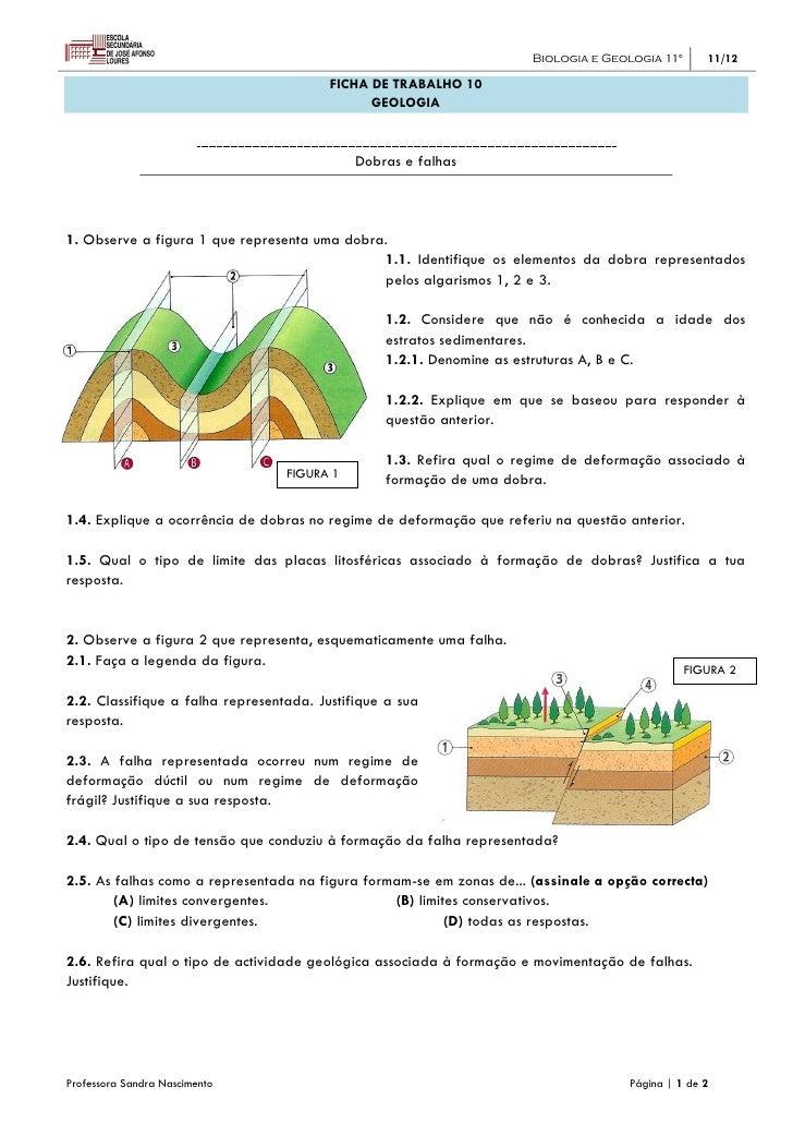 Biologia e Geologia 11º      11/12                                         FICHA DE TRABALHO 10                           ...