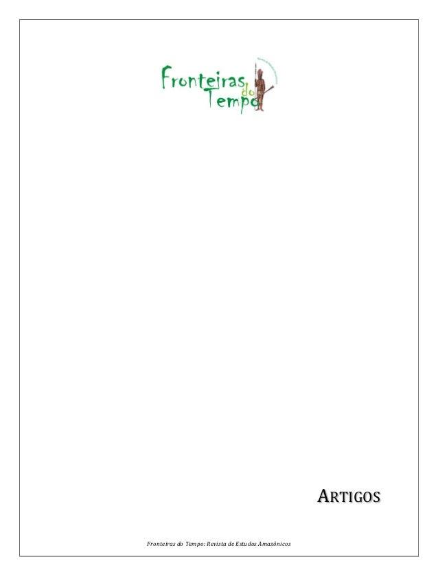 Fronteiras do Tempo: Revista de Estudos Amazônicos ARTIGOS