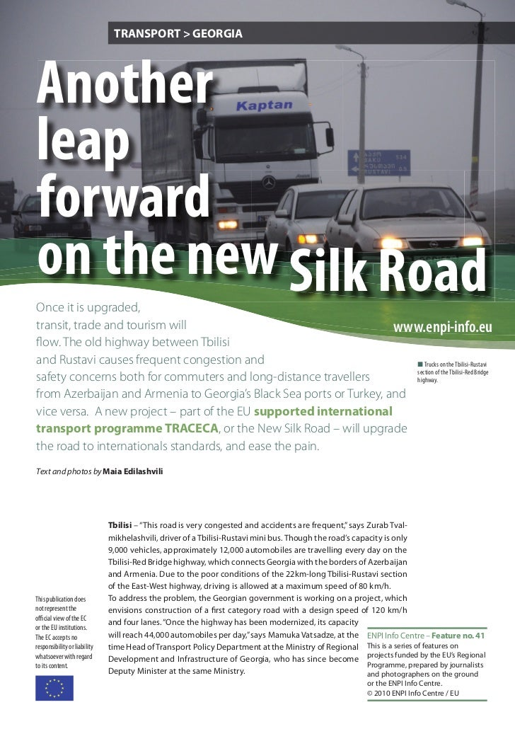 Another leap forward on the new Silk Road