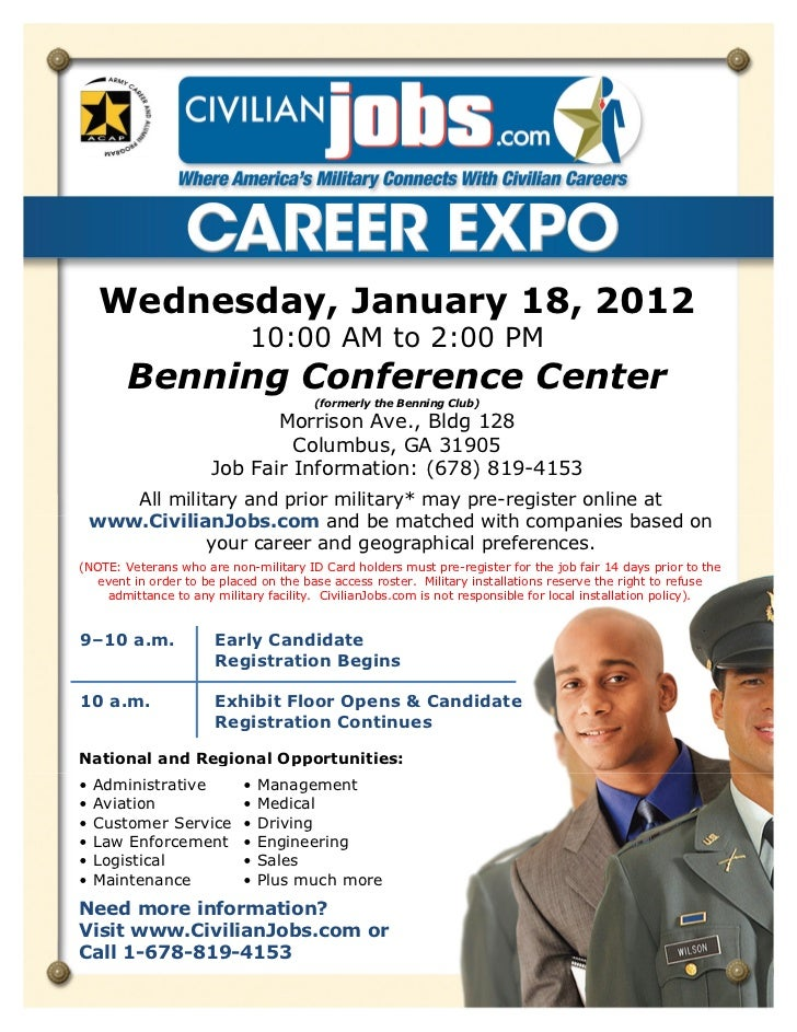 Wednesday, January 18, 2012                             10:00 AM to 2:00 PM        Benning Conference Center              ...