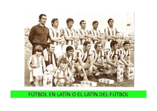 Fútbol contado en latín