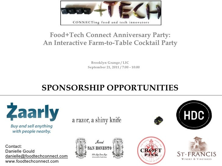 Food+Tech Connect Anniversary Party