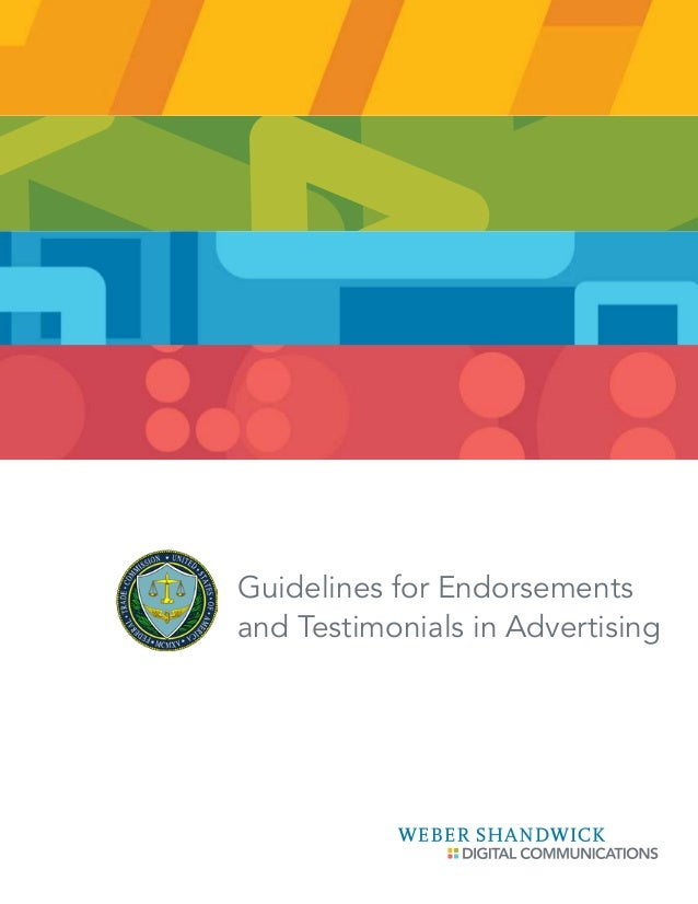 Guidelines for Endorsements and Testimonials in Advertising