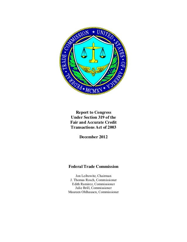 Ftc report on consumer reporting agency errors   370 pages