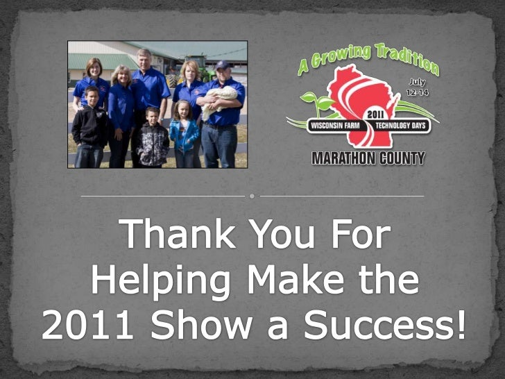 Thank You For Helping Make the 2011 Show a Success!<br />