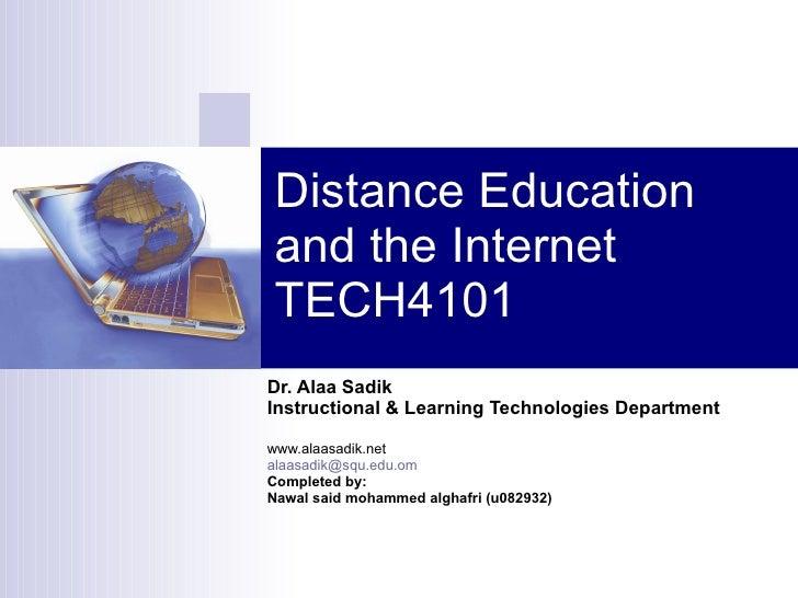 definind distance education