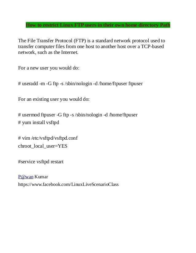 Ftp server linux