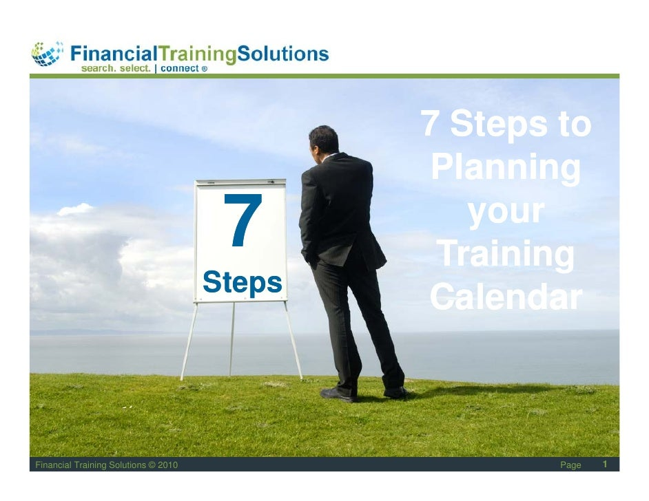 7 Steps To Planning Your Training Calandar