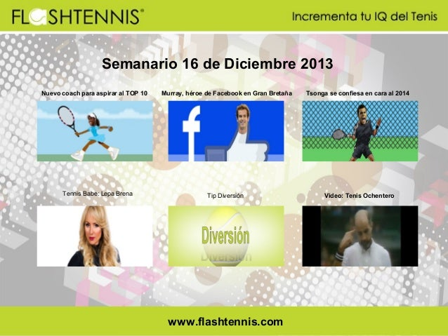 Semanario 16 de Diciembre 2013 Nuevo coach para aspirar al TOP 10  Tennis Babe: Lepa Brena  Murray, héroe de Facebook en G...