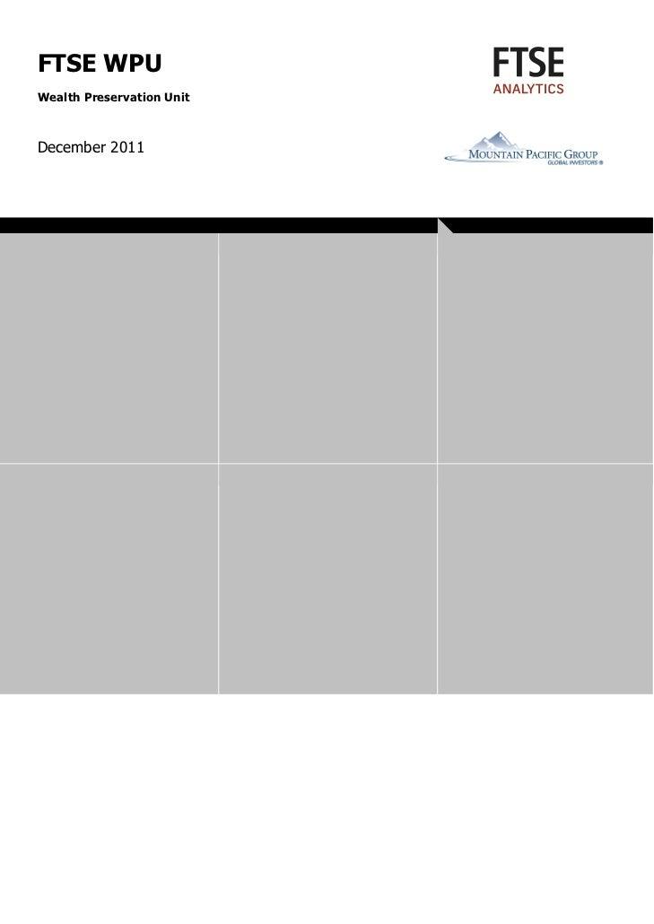FTSE WPU Overview