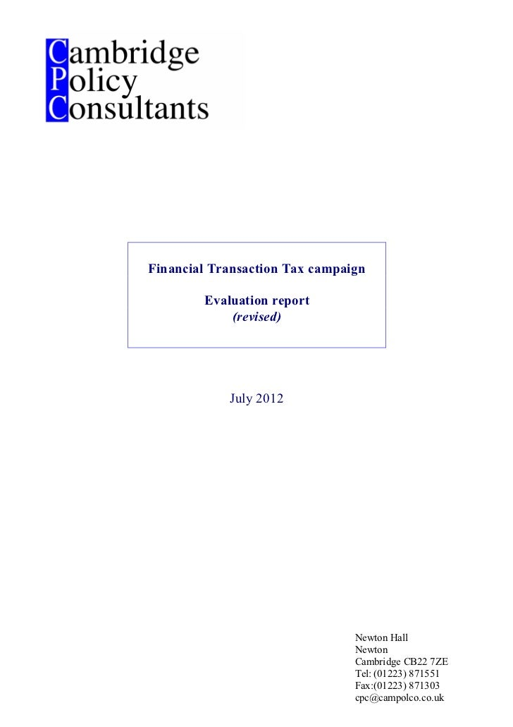 FTT   Revised evaluation report - 19 july 2012