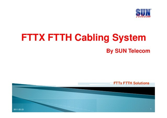 FTTX FTTH Cabling SystemBy SUN TelecomFTTx FTTH Solutions2011-05-23 1