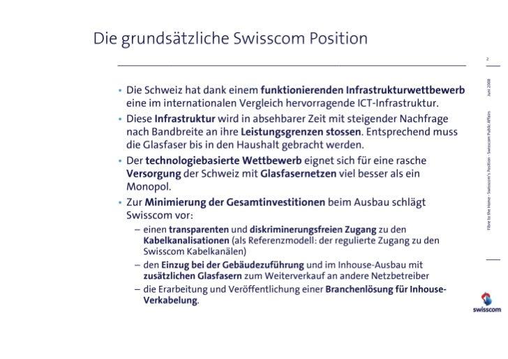 FTTH Position von Swisscom