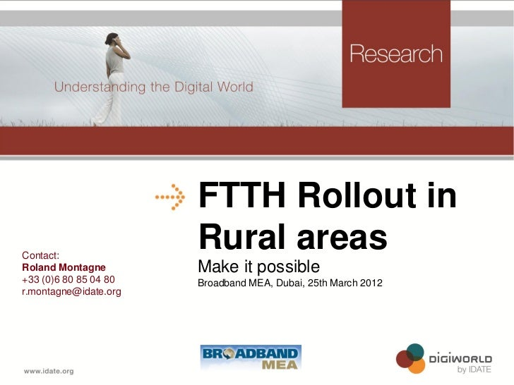FTTH Rollout in Rural areas: Make it possible