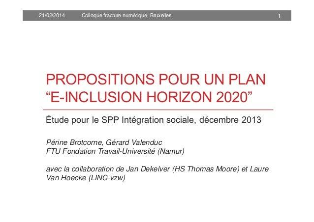 Plan e-inclusion 2020