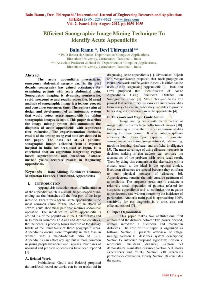 Balu Ramu , Devi Thirupathi / International Journal of Engineering Research and Applications                        (IJERA...