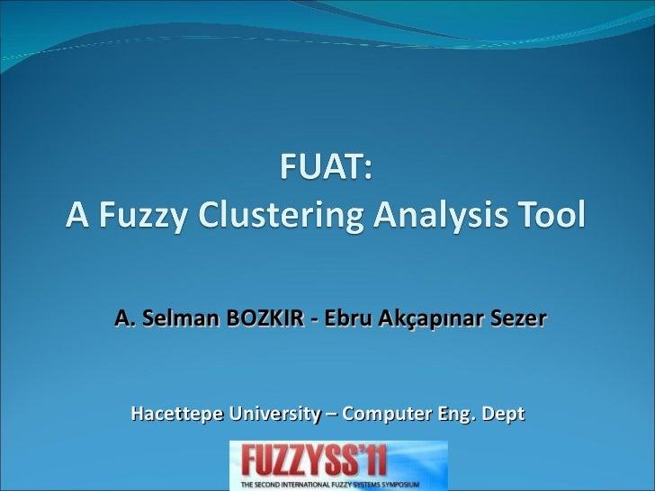 A. Selman BOZKIR - Ebru Akçapınar Sezer Hacettepe University – Computer Eng. Dept