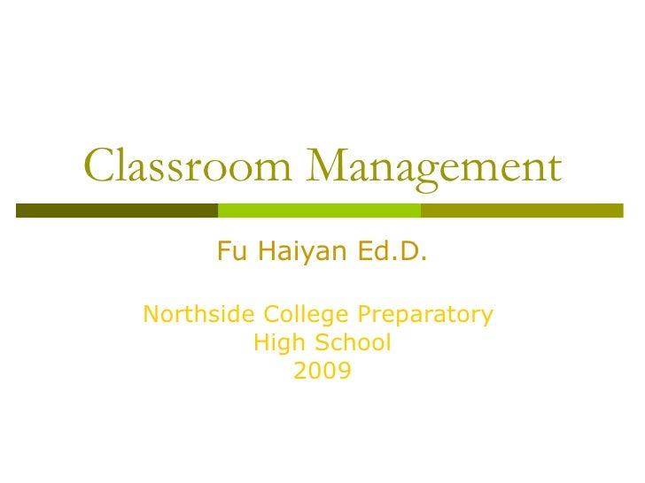 Fu Classroom Management