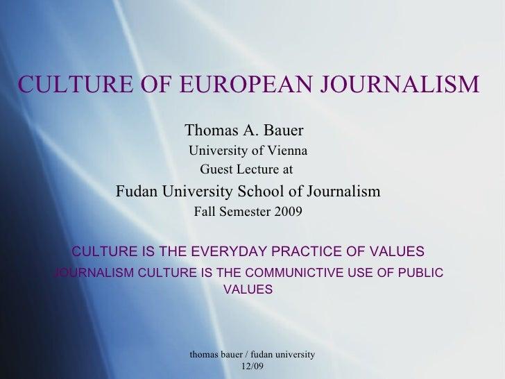 Fudan 12 09 European Journalism Culture