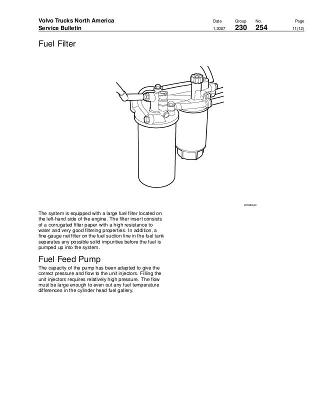 Volvo D12 Engine Service Manual Fuel