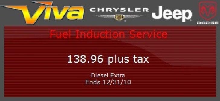 Fuel Induction Service Special – Viva Dodge Chrysler Jeep El Paso TX