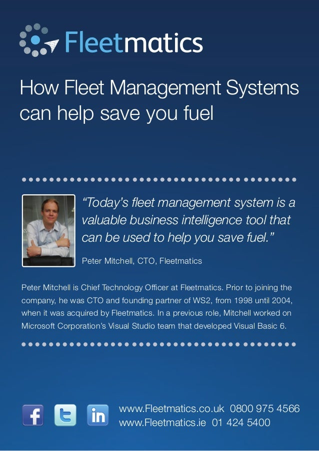 """How Fleet Management Systems can help save you fuel """"Today's fleet management system is a valuable business intelligence t..."""