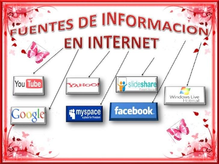 FUENTES DE INFORMACION <br />EN INTERNET<br />