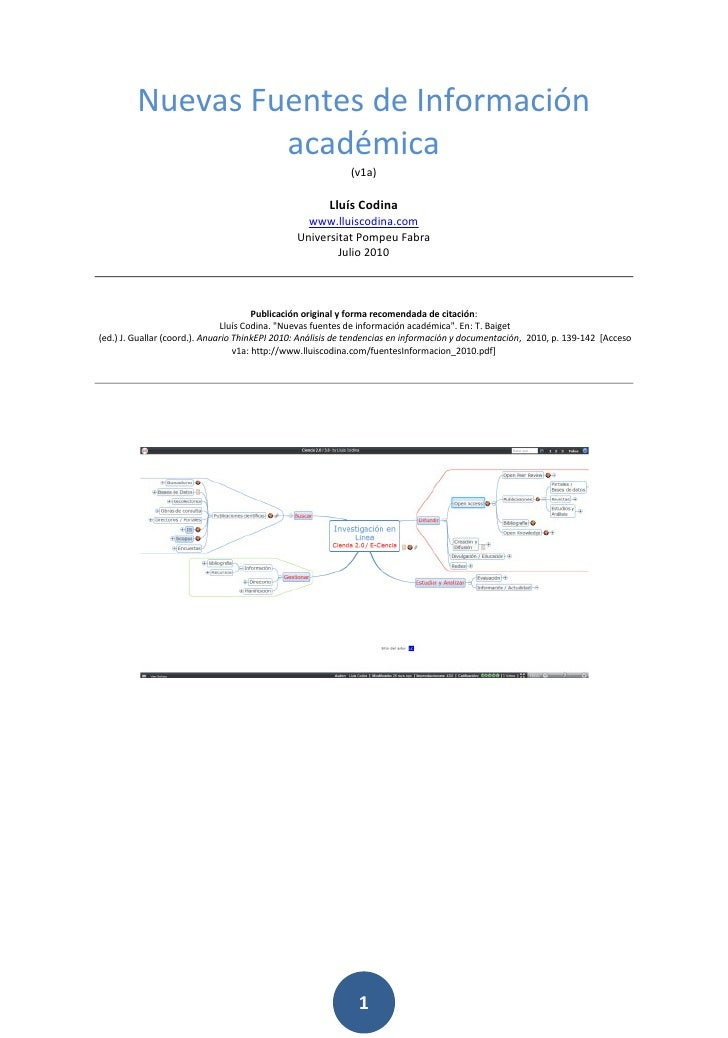 Fuentes informacion 2010