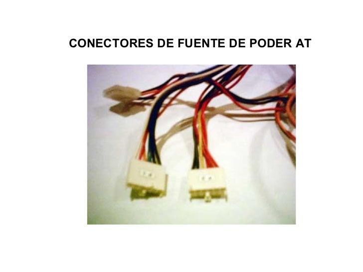 CONECTORES DE FUENTE DE PODER AT