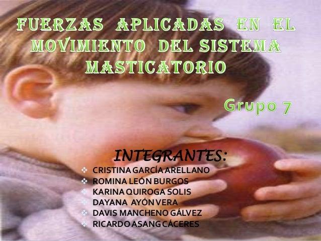 INTEGRANTES:        CRISTINA GARCÍA ARELLANO ROMINA LEÓN BURGOS KARINA QUIROGA SOLIS DAYANA AYÓN VERA DAVIS MANCHENO...