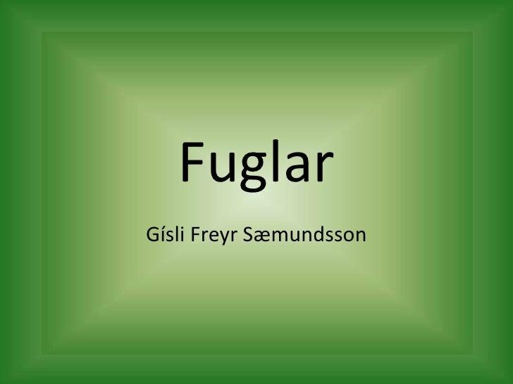 Fuglar<br />Gísli Freyr Sæmundsson<br />