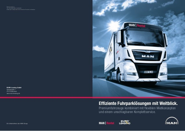 MAN Rental | EURO-Leasing | Unternehmensbroschüre | Corporate Brochure