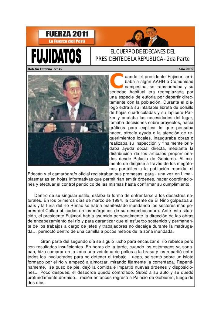 Fujidatos El Cuerpo de Edecanes del Presidente de la República II
