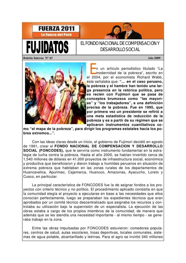 Fujidatos Fondo Nacional de Compensacion y Desarrollo Social