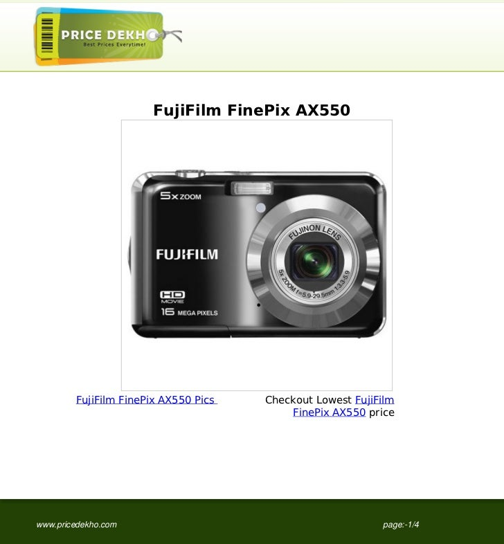 FujiFilm+FinePix+AX550+supplier