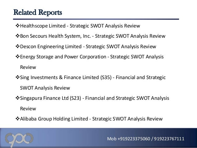 swot analysis of descon engg