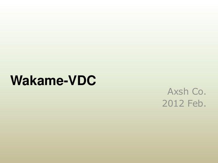 Fukuoka Ruby Award - Wakame-VDC