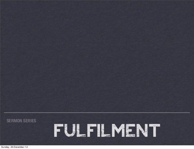 Fulfillment 3 Psalm 2