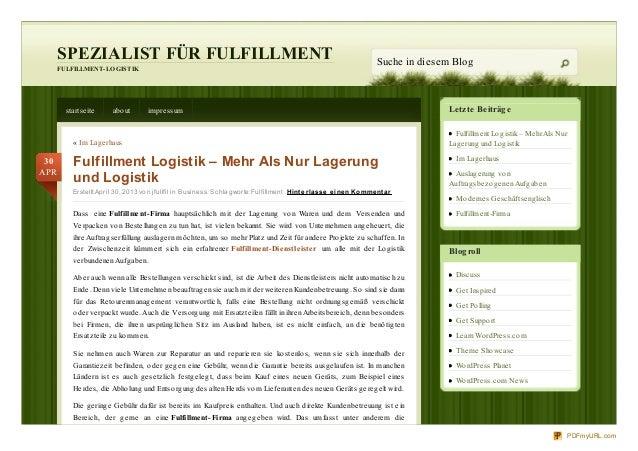 Letzte BeiträgeFulfillment Logistik – MehrAls NurLagerung und LogistikIm LagerhausAuslagerung vonAuftragsbezogenenAufgaben...