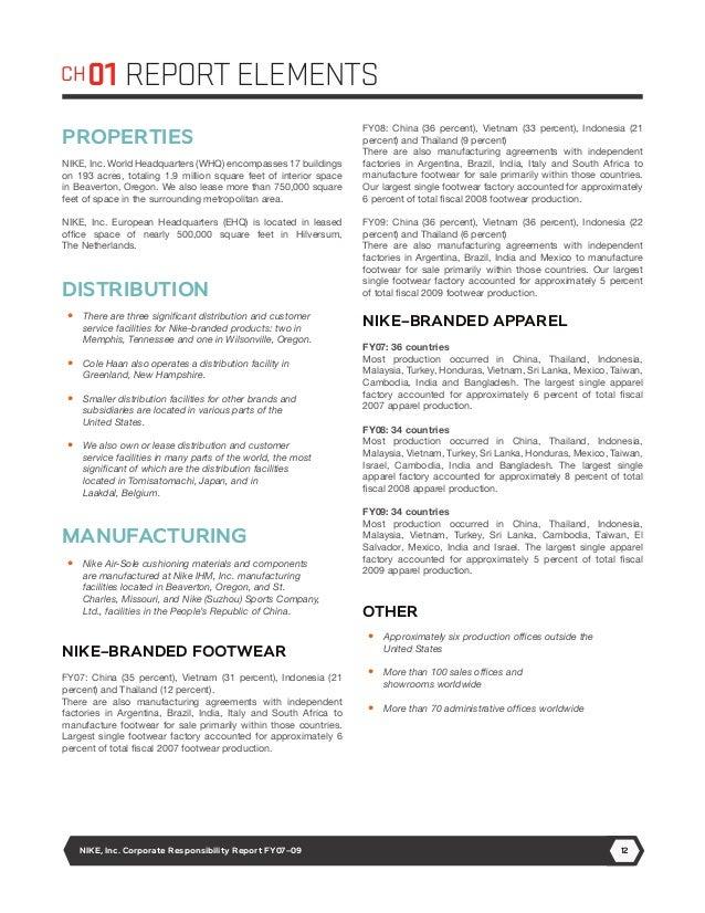 nike corporate report Sustainable strides at nike, inc harvard business school → harvard university.