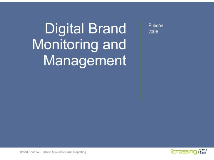 Digital Brand Monitoring and Management