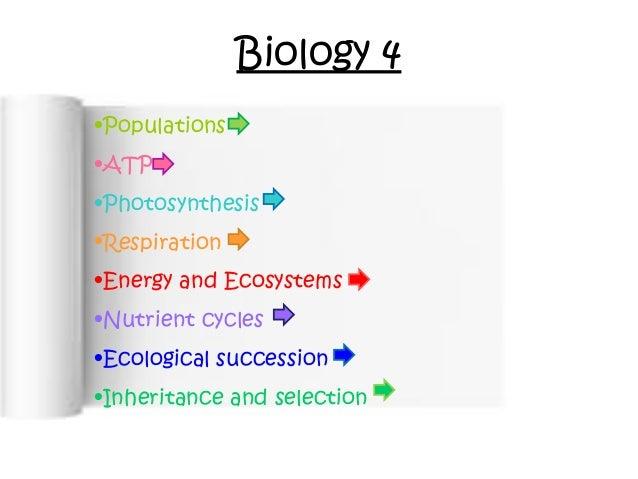 Full biology unit 4 powerpoint
