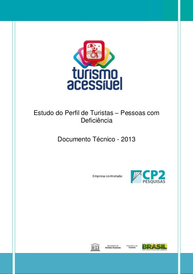 Full Brazilian Inclusive Tourism Market Study - 2013