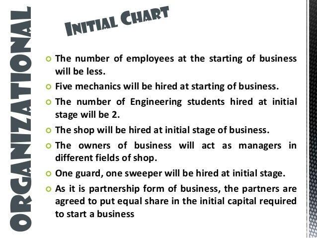 Business plan for custom car shop