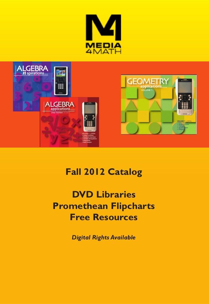Media4Math's Fall 2012 Catalog