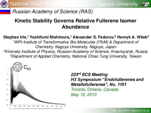 Kinetic Stability Governs Relative Fullerene Isomer Abundance