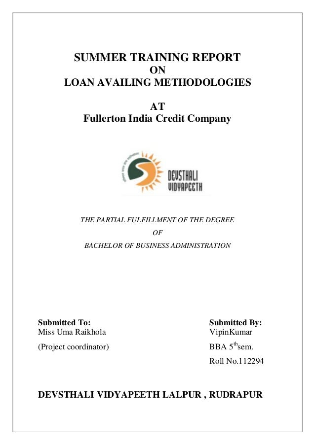 Fullerton loan india